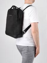 Business Rugzak Kapten and son Zwart backpack MALMO-vue-porte