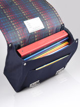 Boekentas It Bag Midi 2 Compartimenten Jeune premier Blauw classics CLD21-vue-porte