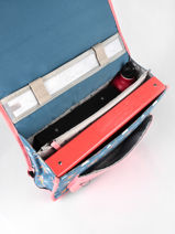 Boekentas Kind 2 Compartimenten Cameleon Zwart retro CA38-vue-porte