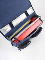 Boekentas 2 Compartimenten Cameleon Blauw vintage color CA38-vue-porte