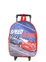 Rugzak Op Wieltjes 1 Compartiment Cars Rood speed 4CENTR