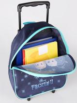 Rugzak Op Wieltjes 1 Compartiment Frozen Blauw flocon 4FLOC-vue-porte