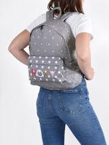 Rugzak 1 Compartiment Roxy Grijs back to school RJBP4354-vue-porte