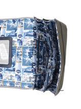 Boekentas 2 Compartimenten Ikks Geel backpacker in tokyo 20-38836-vue-porte