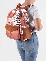 Rugzak Carribean 1 Compartiment Roxy back to school RJBP4170-vue-porte