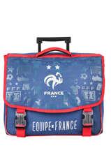 Boekentas Op Wieltjes 2 Compartimenten Federat. france football Blauw le coq 203X203R
