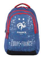 Rugzak 3 Compartimenten Federat. france football Blauw le coq 203X204I