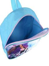 Mini Rugzak 1 Compartiment Frozen Blauw anna et elsa FROTW03-vue-porte