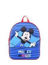 Mini Rugzak 1 Comprtiment Mickey Blauw stripe MICNIO3