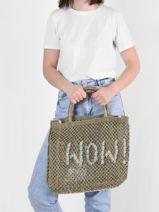 "Shoppingtas ""wow!"" Van Jute The jacksons Groen word bag S-WOW-vue-porte"