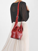 Bucket Bag S Chéri Leder Lancel Rood cheri A11772-vue-porte