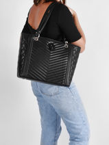 Schoudertas A4 Formaat Noelle Guess Zwart noelle LG787923-vue-porte