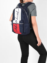 Rugzak Tommy Elevated Tommy hilfiger Blauw elevated AM07596-vue-porte