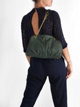 Shoppingtas Vintage Leder Nat et nin Groen vintage SELENA-vue-porte