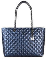 Schoudertas A4 Formaat Cessily Guess Blauw cessily KM767923