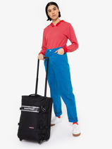 Handbagage Soepel Eastpak Zwart authentic luggage K61L-vue-porte