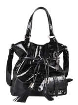 Bucket Bag M Premier Flirt Croco Leder Lancel Zwart premier flirt A11753