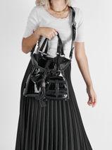 Bucket Bag M Premier Flirt Croco Leder Lancel Zwart premier flirt A11753-vue-porte