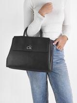 Handtas Re-lock Calvin klein jeans Zwart re-lock K608411-vue-porte