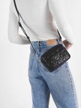 Cross Body Tas Re-lock Calvin klein jeans Zwart re-lock K608589-vue-porte