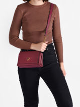 Cross Body Tas Downtown Guess Rood downtown VB838578-vue-porte