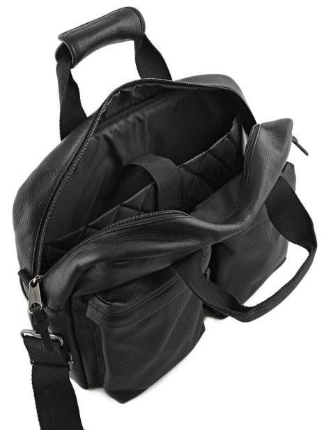 Handtas 1 Compartiment + Pc 15'' Eastpak Zwart leather K023L ander zicht 5