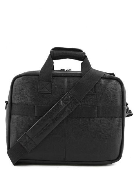 Handtas 1 Compartiment + Pc 15'' Eastpak Zwart leather K023L ander zicht 4