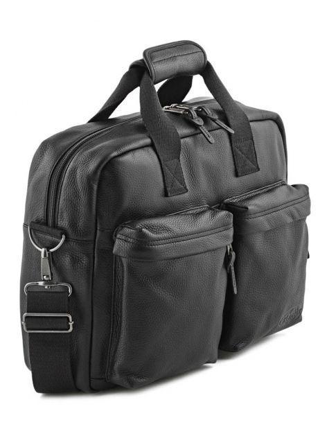 Handtas 1 Compartiment + Pc 15'' Eastpak Zwart leather K023L ander zicht 3
