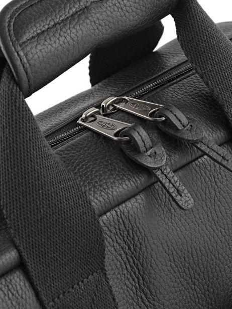 Handtas 1 Compartiment + Pc 15'' Eastpak Zwart leather K023L ander zicht 1