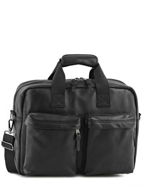Handtas 1 Compartiment + Pc 15'' Eastpak Zwart leather K023L