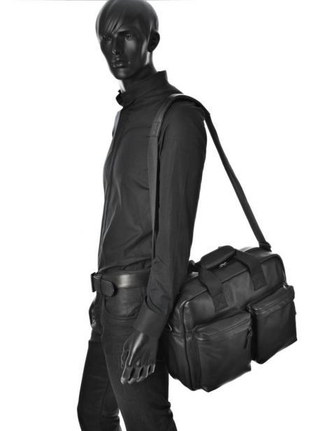 Handtas 1 Compartiment + Pc 15'' Eastpak Zwart leather K023L ander zicht 2