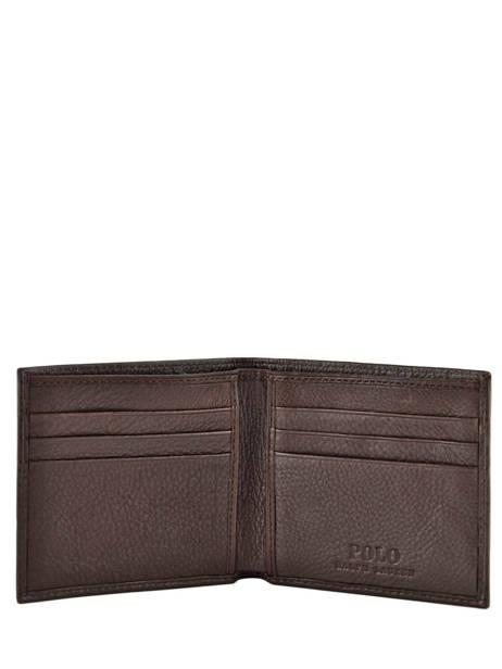 Kaarthouder Leder Polo ralph lauren Bruin wallet A79AW902 ander zicht 2