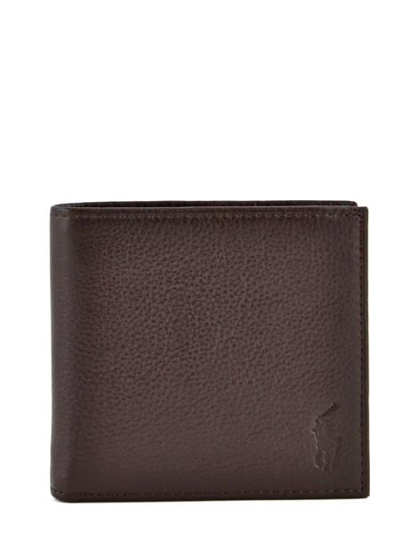 Kaarthouder Leder Polo ralph lauren Bruin wallet A79AW902