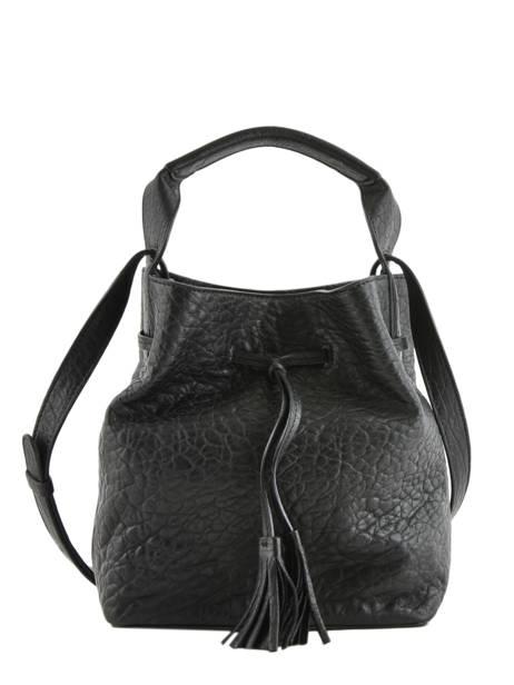 Mini Saxo Bucket Bag Bubble Leder Gerard darel Zwart bubble DKS17403