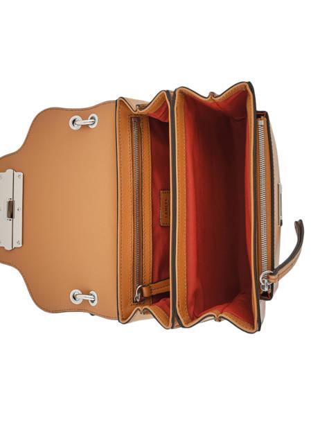Cross Body Tas Clic Leder Lancel Bruin clic A10541 ander zicht 4