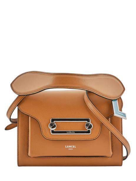 Cross Body Tas Clic Leder Lancel Bruin clic A10541