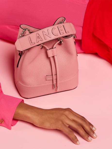 Mini Bucket Bag Ninon Leder Lancel Roze ninon A11466