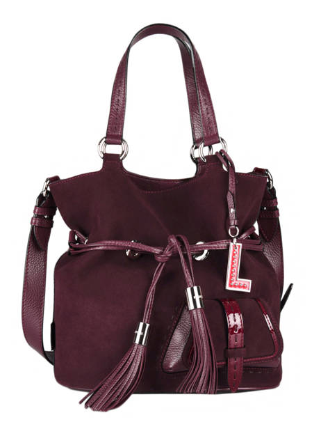 Bucket Bag M Premier Flirt Suède Leder Lancel Violet premier flirt A11755