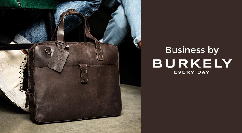 Burkely tassen documententas lederen business tas